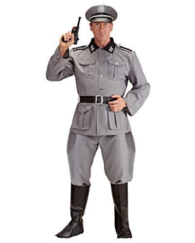 Horror-Shop Soldaten Uniform Grau Gr.L