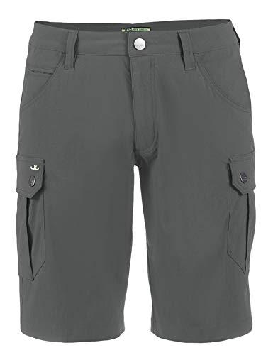Jeff Green Herren Elastische Schnell Trocknende Leichte Kurze Cargo Outdoor Funktions Hose Stan, Größe - Herren:58, Farbe:Grey