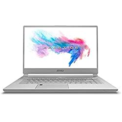 "MSI Prestige P65 8RE-007ES - Ordenador portátil gaming 15.6"" FullHD (Intel Core i7-8750H, 16GB RAM, 512GB SSD, Nvidia GTX 1050Ti 4GB, Windows 10)Plata - Teclado QWERTY Español"