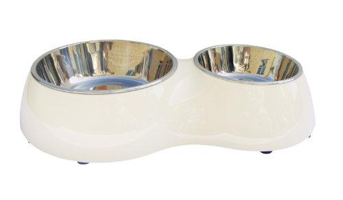 Artikelbild: Dogit Metallnäpfe im Doppelnapf in weiss 400 ml