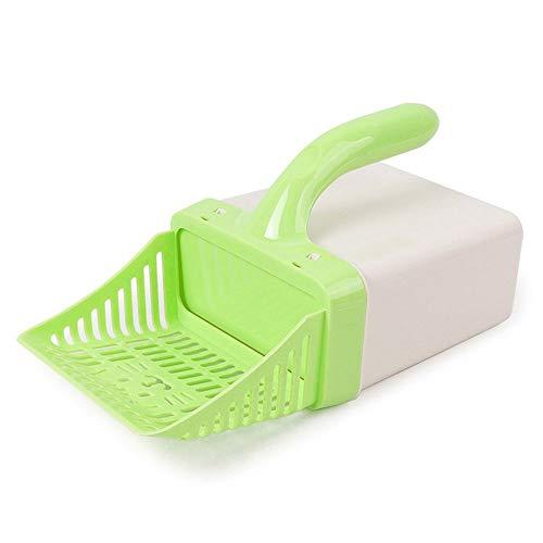 CHOULI Handy Kitten Sand Waste Scooper Shovel Plastic Litter Cat Scoop Clean Tool Green