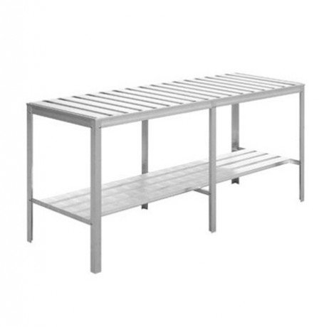 Table en aluminium blanc 520 x 1345 x 767 mm