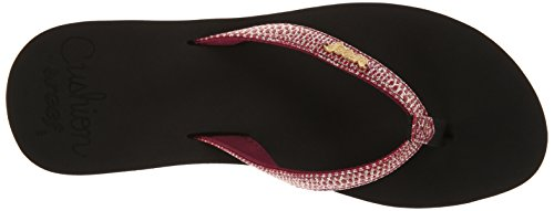 Reef Star Cushion, Tongs Femme Multicolore (Sa Black/Berry / Kbe)