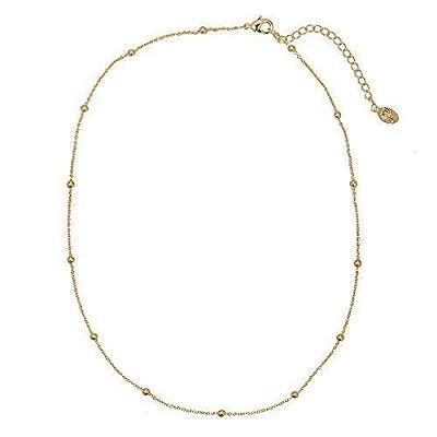 Collier ras de cou Petite Perles Boules Pampilles - Minimaliste et Délicat - Collier boules