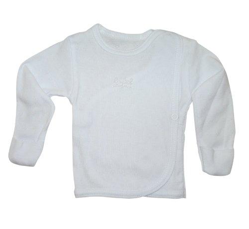 Langarm-Shirt Baby BY08 Gr. 56, Pullover weiß Neugeborene Babies Säugling-e zum Strampler Geschenk-e