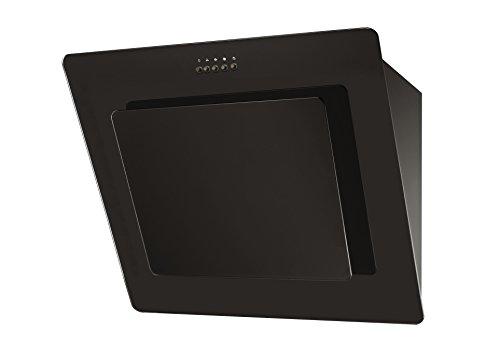Saga EH70GB 70 cm abgewinkelte Küchen-Dunstabzugshaube aus schwarzem Glas - Abgewinkelte Glas