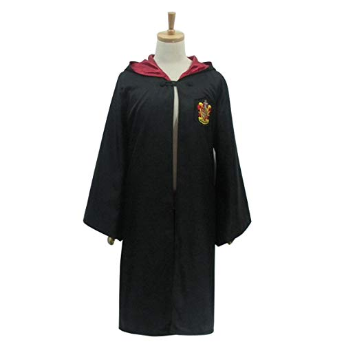 unbrand Erwachsene Kinder Zauberer Kostüm Harry Potter Quidditch Hogwarts Cape Umhang Robe Cosplay Kostüm Halloween ()