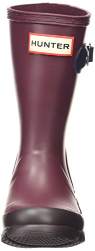 Hunter  Org Refl Contr, Bottes Unisexe enfant Rouge - Red (Burgandy-0Bur)
