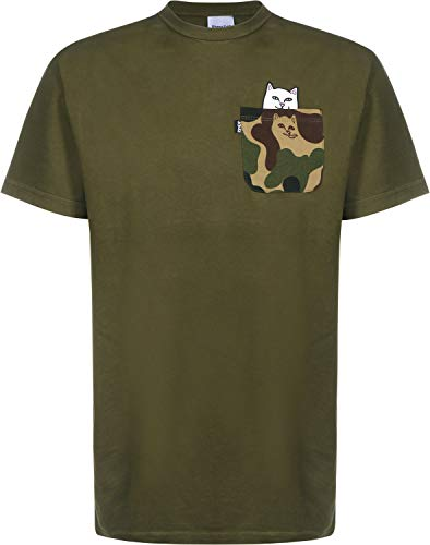 Herren T-Shirt Rip N Dip Lord Nermal Camo Pocket T-Shirt