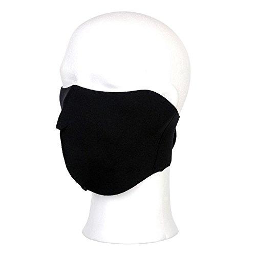 Maske Neopren schwarz uni Biker -
