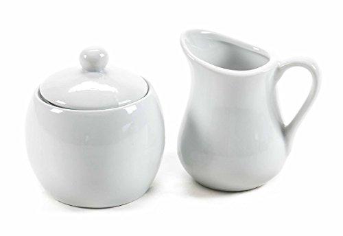 Milchkännchen Zuckerdose aus Keramik, Design schlicht, zeitlos, 2- teilig