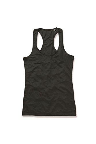 Stedman Active - T-shirt de sport - Manches Courtes - Femme Noir