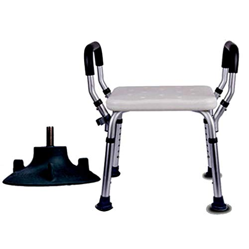 Stuhl-arm-fach (Duschstuhl Für Ältere Menschen Werkzeugfreie Montage Whirlpool Duschstuhl Tragbare Badewanne Sitz Einstellbare Duschhocker Mit Handlauf Weiß Bad Stuhl)
