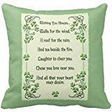 'Wishing You Always Irish Blessing Pillow Case 18 * 18 \