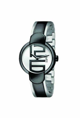 Esprit ES101722003 Supreme White-Black Ladies Watch Quartz Analogue Black Dial Bicolour Steel Strap