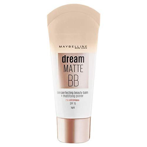 3 x Maybelline Dream Pure 8-in-1 BB Cream For Oily Skin SPF15 30ml - Light