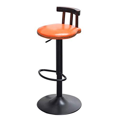 Barhocker-Chaise Pivotante De Style Rétro In Métal Industriel Tabouret De Bar Küche Küche Petit-déjeuner Chaise Ronde FENPING (Farbe : A)