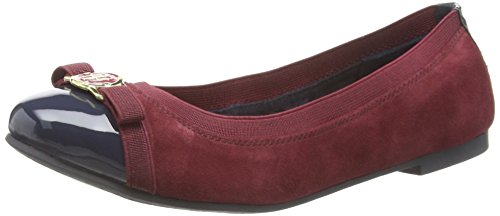 Tommy Hilfiger A1285My 60c, Ballerine Donna, Multicolore (Tawny Port), 38 EU