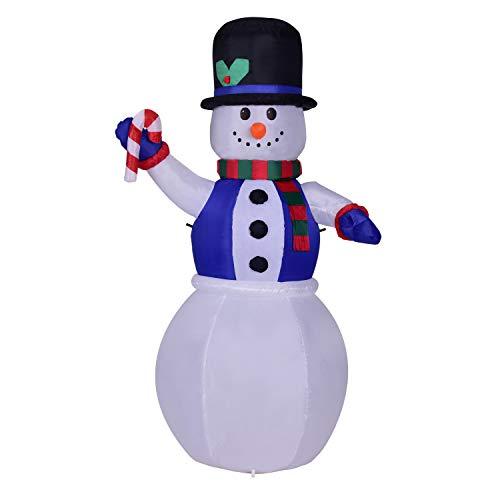 Muñeco nieve LED Papá Noel inflable iluminado 180