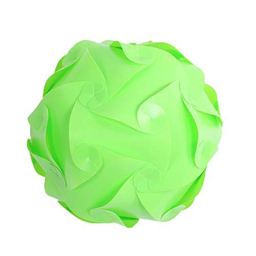 Kinnart Creative IQ Kunststoff-Lampenschirm, Hängelampe, für Zuhause, Restaurant, Dekoration, Beleuchtung, Metall-Lampenschutz für Hängelampen, Kronleuchter, Deckenlampe, Plastik, grün, S