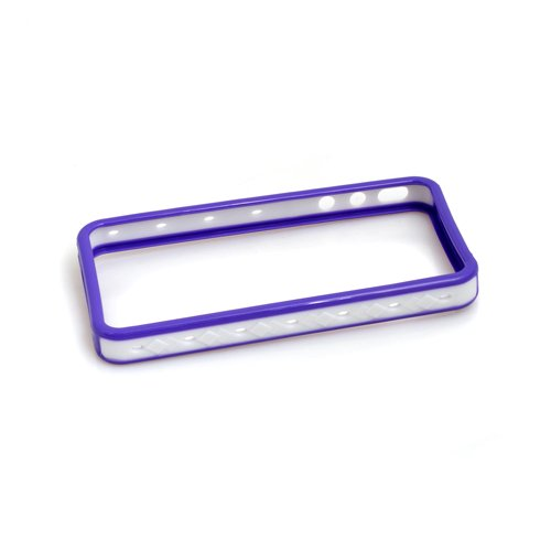 System-s Protector Étui de protection bumper Coque Frame Case de protection Etui en violet, blanc, pour Apple iPhone 4