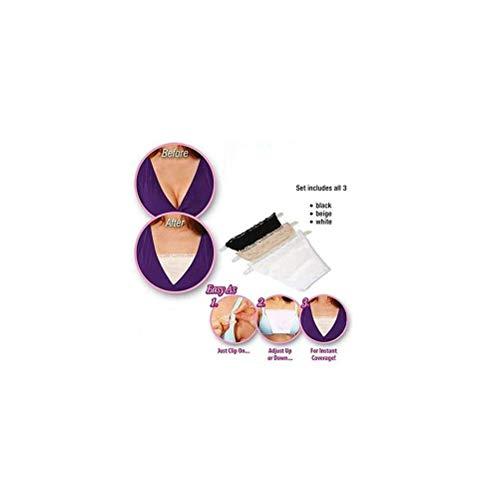 EJOTAY Anti Peep Invisible Bra Seamless Bralette Tube top Bra (1 Set of 3PCS) - 7