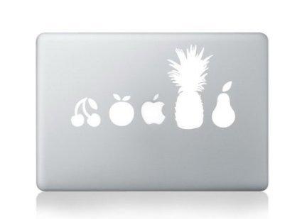 decalshut vinyle blanc Fruits MacBook en stickers pour Apple MacBook 33cm (Pro/Air/Retina)