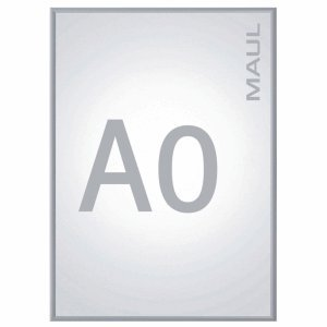 Maul 6604008 Klapprahmen A0, Plakatrahmen Aluminium,  123,3 x 88,5 x 2 cm (HxBxT), 1 Stück