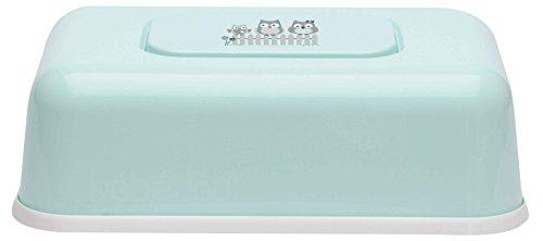 bébé-jou 623032 Feuchttücherbox Owl family, mintgrün, Eulen