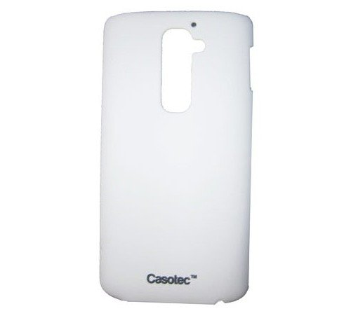 Casotec Ultra Slim Hard Shell Back Case Cover w/ Screen Protector for LG G2 - White  available at amazon for Rs.125
