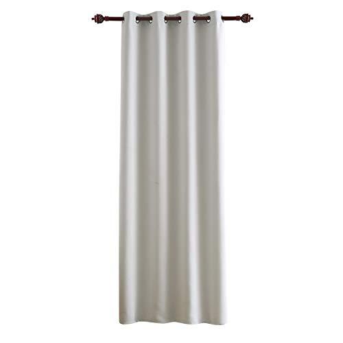 Deconovo tenda oscurante termica isolante con occhielli per camera da letto grigio perla 140x260 cm un pannello
