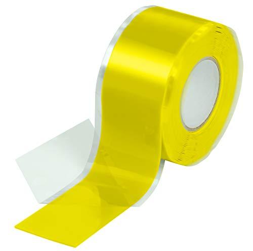 Poppstar 1x 3m selbstverschweißendes Silikonband, Silikon Tape Reparaturband, Isolierband und Dichtungsband (Wasser, Luft), 25mm breit, grau