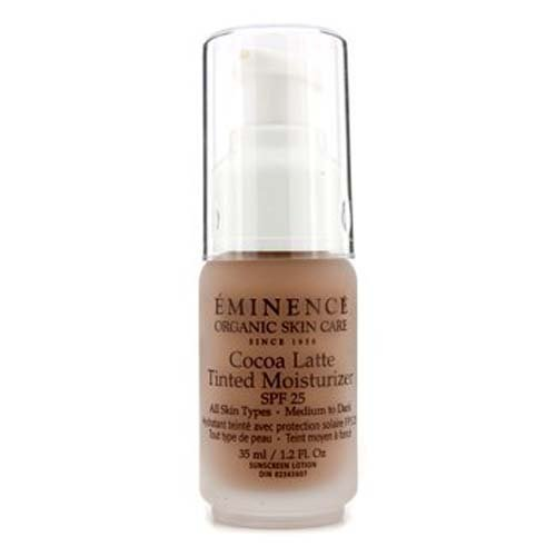 Eminence Organic Skincare Cocoa Latte Tinted Moisturizer SPF 25, for All Skin Types, 1.2...