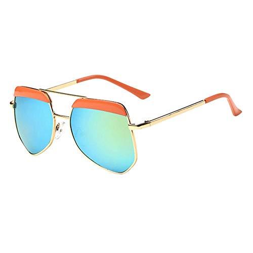 Sonnenbrille Neue Kinder Brillenmode Rundes Gesicht Multilateralen Big Frame Sonnenbrillen Für Mädchen Und Jungen Orange Grün