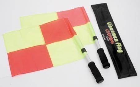 Neu Carta Sports Fußball Linienrichter Schläger Official Linien Man Flaggen Schiedsrichter Set -