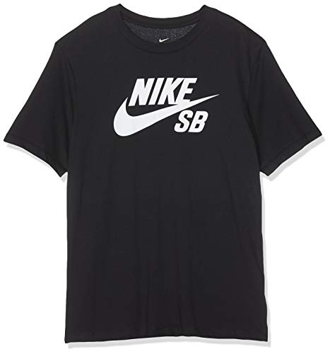 Nike Herren M NK SB Dry Tee DFCT Logo T-Shirt, Black/White, XL -