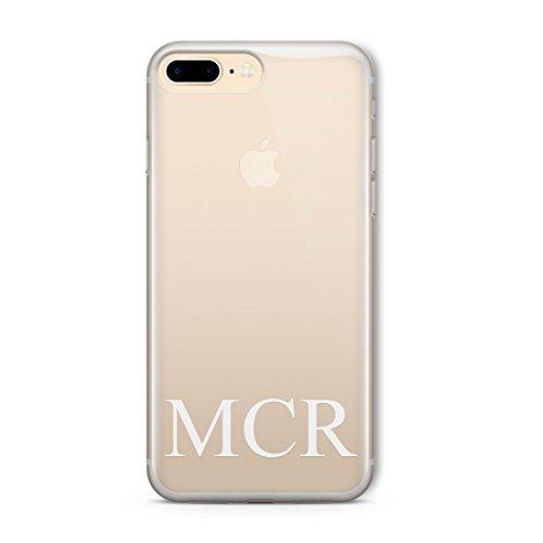 personnalisé clair opaque initiales Word Coque pour iPhone Gamme, plastique, Big Initial Heart, Big Initial Heart, iPhone 7 Initial Bottom, Initial Bottom