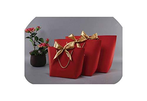 c-sky Large Size Gold vorhanden Box Für Pyjamas Kleidung Bücher Verpackungen Gold Griff Papierkasten-Beutel Packpapier-Geschenk-Beutel mit Handgriff Dezember, H, Mischgröße