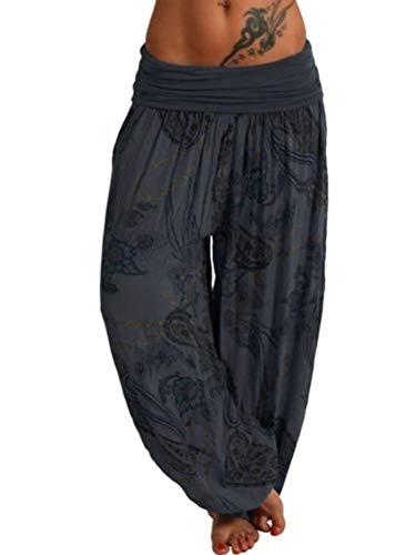 Tomwell Damen Pumphose/Haremshose/Yoga Pant Stretch Pump Sport Aladin Hose A Schwarz XX-Large - Baumwolle-sport-stretch-höschen