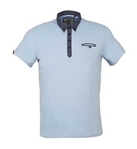 Guide London Herren Poloshirt blau blau XX-Large Sky