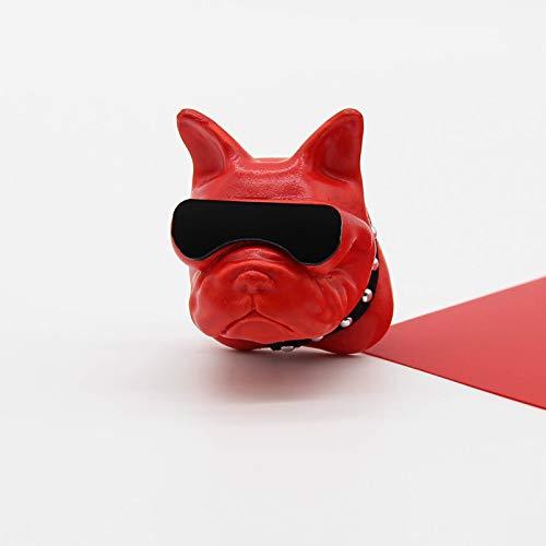 Französisch Bulldogge Auto Parfüm-Dekoration Outlet-Auto in der kreativen Aromatherapie Räucherstäbchen Steindekoration Lasting Lichtduft Rotlicht-Spiegel-Methode Eimer -