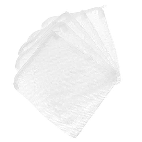 Carbon Filter Media (LOVIVER 5 Stü Aquarium Mesh Media Filter Aquarium Kohlefilter Tasche Mit - Weiß - 25x20cm)