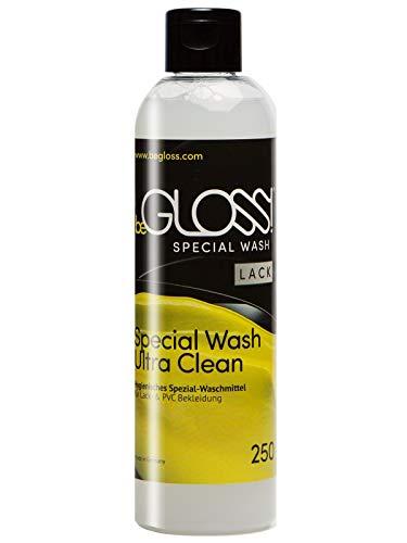 beGLOSS Special Wash Lack & PVC 250 ML Waschmittel für Lackbekleidung Pflege Reiniger für Lack Kleidung