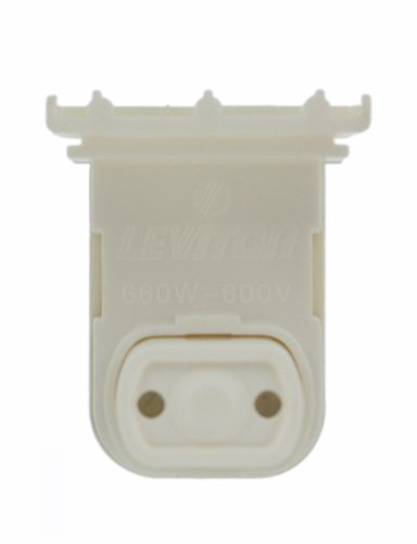 Pedestal Base (Leviton 13570-NW Medium Base, Bi-Pin, Standard Fluorescent Lampholder, Pedestal, Slide-On, Plunger, White by Leviton)