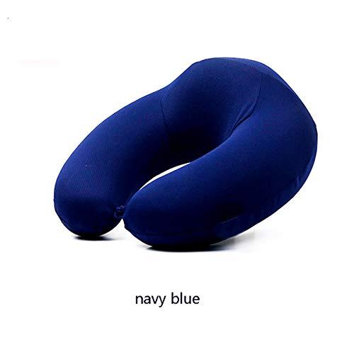 BELOVINGSHOP Cuscino da viaggio, Comfort morbido, da Memory Foam Pillow Concept Adatto per adulti, Adatto aBus, Treno, Auto, Traspirante e confortevole (30 * 30 * 11 * 9cm),Navy