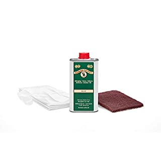 Hermann Sachse Holzöl farblos für innen im Set 250ml Leinöl Arbeitsplattenöl Möbelöl für Tische lösemittelfrei