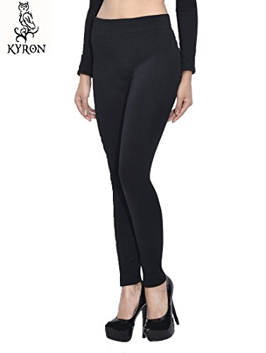 Kyron Fashions Women\'s thermal wool legging 100% hot For winters (1-WLCH-BLCK-30, Black, 30)