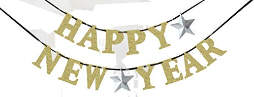 amscan 210385 Partykette Happy New Year, Silber/Gold, 360 x 12,7 cm