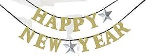 """Amscan International-210385Kit de decoración""""feliz año nuevo, plata/oro"""