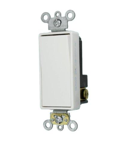 Leviton 5621-2W 20-Amp 120/277-Volt Decora Plus Rocker Single-Pole AC Quiet Switch, White by Leviton -